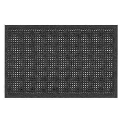 Comfort-Ease Black 24 in. x 36 in. Rubber Anti-Fatigue/Safety Mat