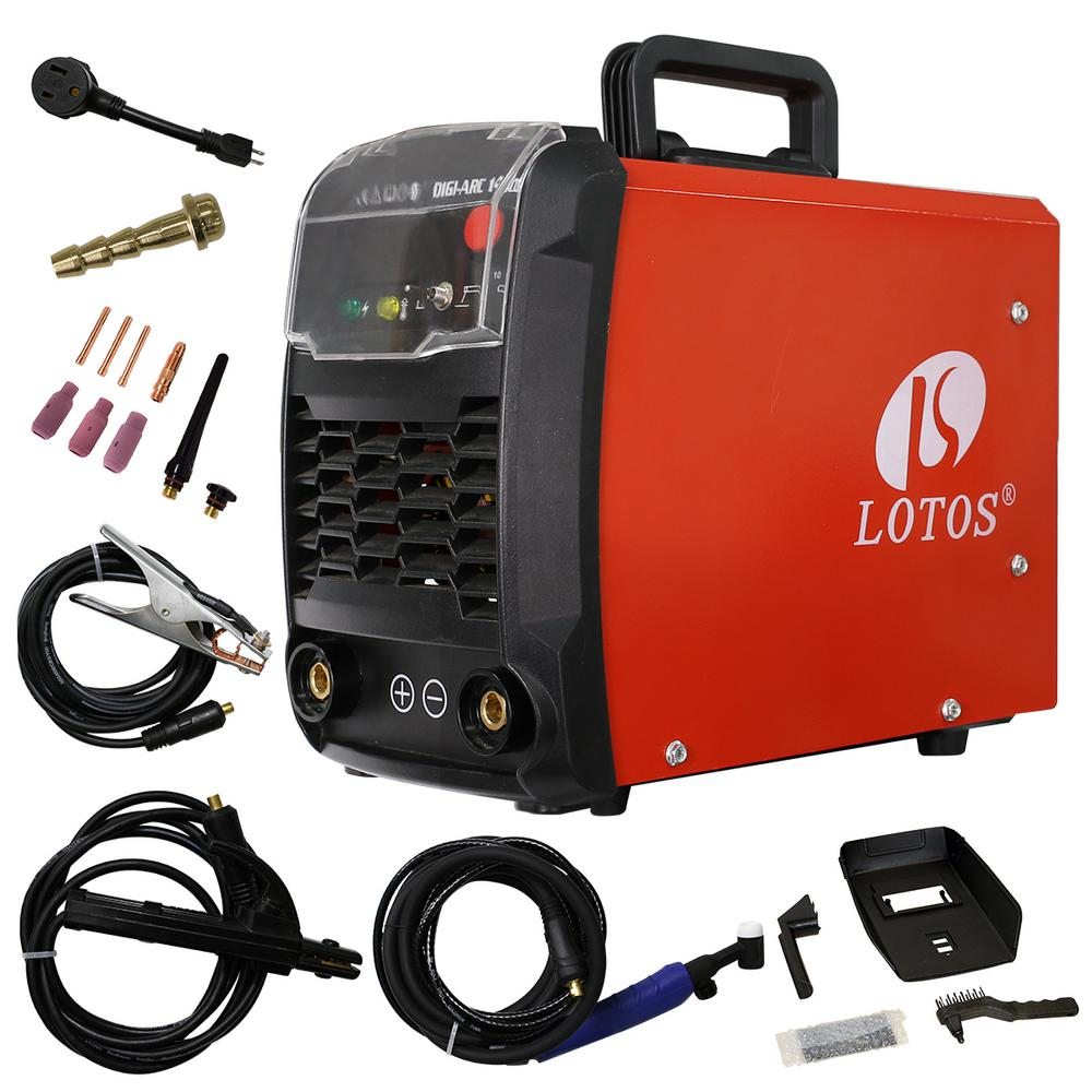 Lotos 140 Amp TIG/Stick DC IGBT Inverter Welder with Auto Adaptive Hot  Start (Lift Start) for TIG, Dual Voltage 110/220V