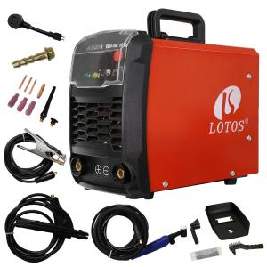 Lotos 140 Amp TIG/Stick DC IGBT Inverter Welder with Auto Adaptive Hot Start (Lift Start) for TIG, Dual Voltage 110/220V by Lotos