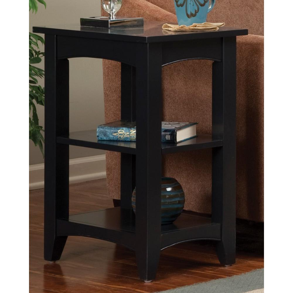 Alaterre Furniture Shaker Cottage Charcoal Gray Storage End Table