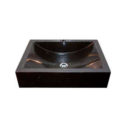 Cantrio Vessel Sink in Black Granite