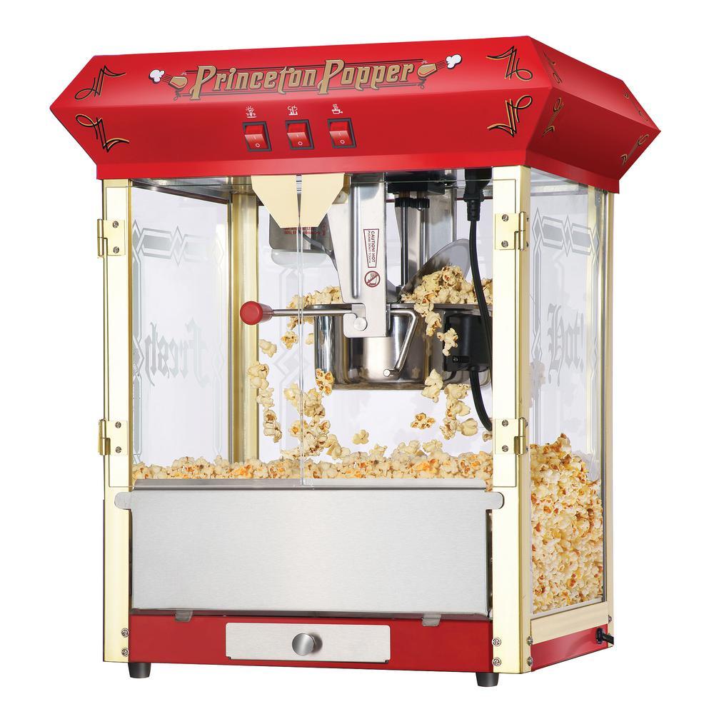 Princeton Popcorn Machine, Red/Orange
