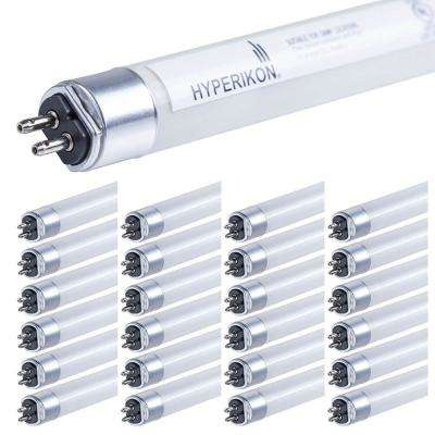 25-Watt 4 ft. Linear T5 Frosted 5000K Dual-end Powered Ballast Compatible LED Tube Light Bulb (25-Pack)