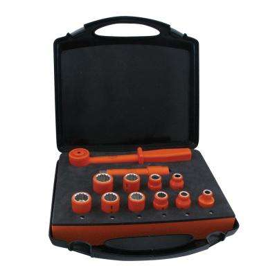 1000-Volt Insulated 1/2 in. Drive Combination Socket Set (12-Piece)