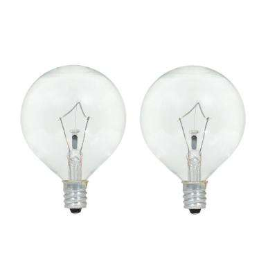25-Watt Double Life G16.5 Incandescent Light Bulb (2-Pack)