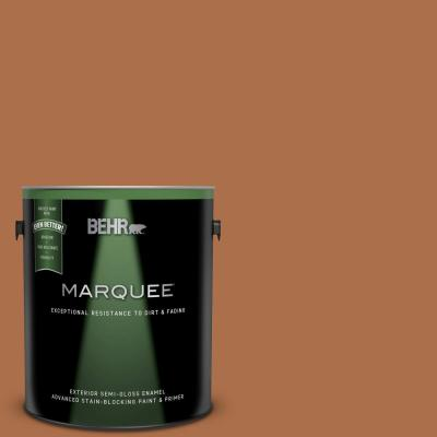 Behr Marquee 1 Gal 260d 4 Copper River Semi Gloss Enamel Exterior Paint And Primer In One 545301 The Home Depot