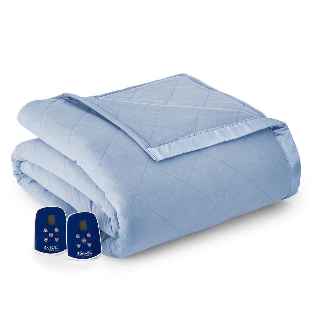 Micro Flannel Queen Wedgewood Electric Heated Comforter/Blanket