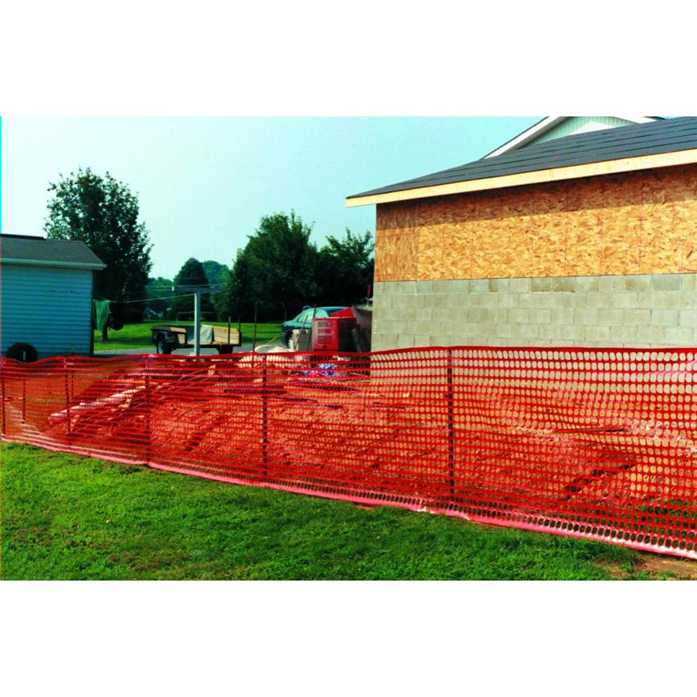 Tenax 4 Ft X 100 Ft Orange Guardian Safety Barrier Fence