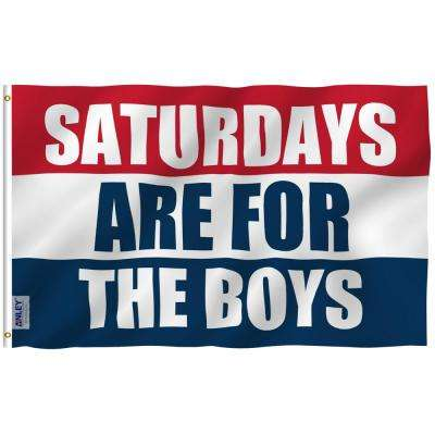 Fly Breeze 3 ft. x 5 ft. Polyester Saturdays Are for The Boys 2-Sided Flag Banner with Brass Grommets and Canvas Head