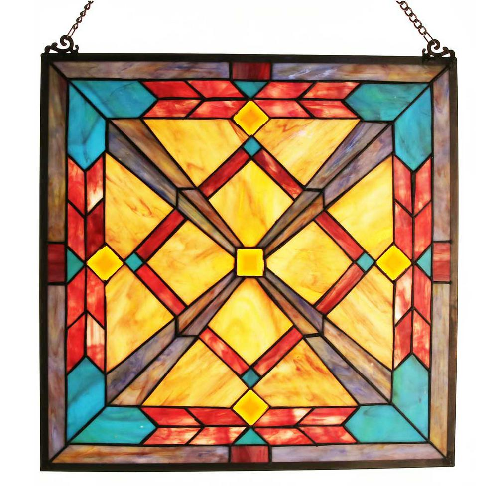 River of Goods Multi-Colored Stained Glass Southwest Sunset Window ...