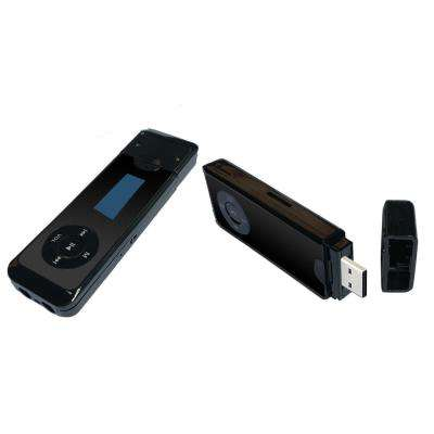 MP3 Player with Dual Earphone Jack, Black