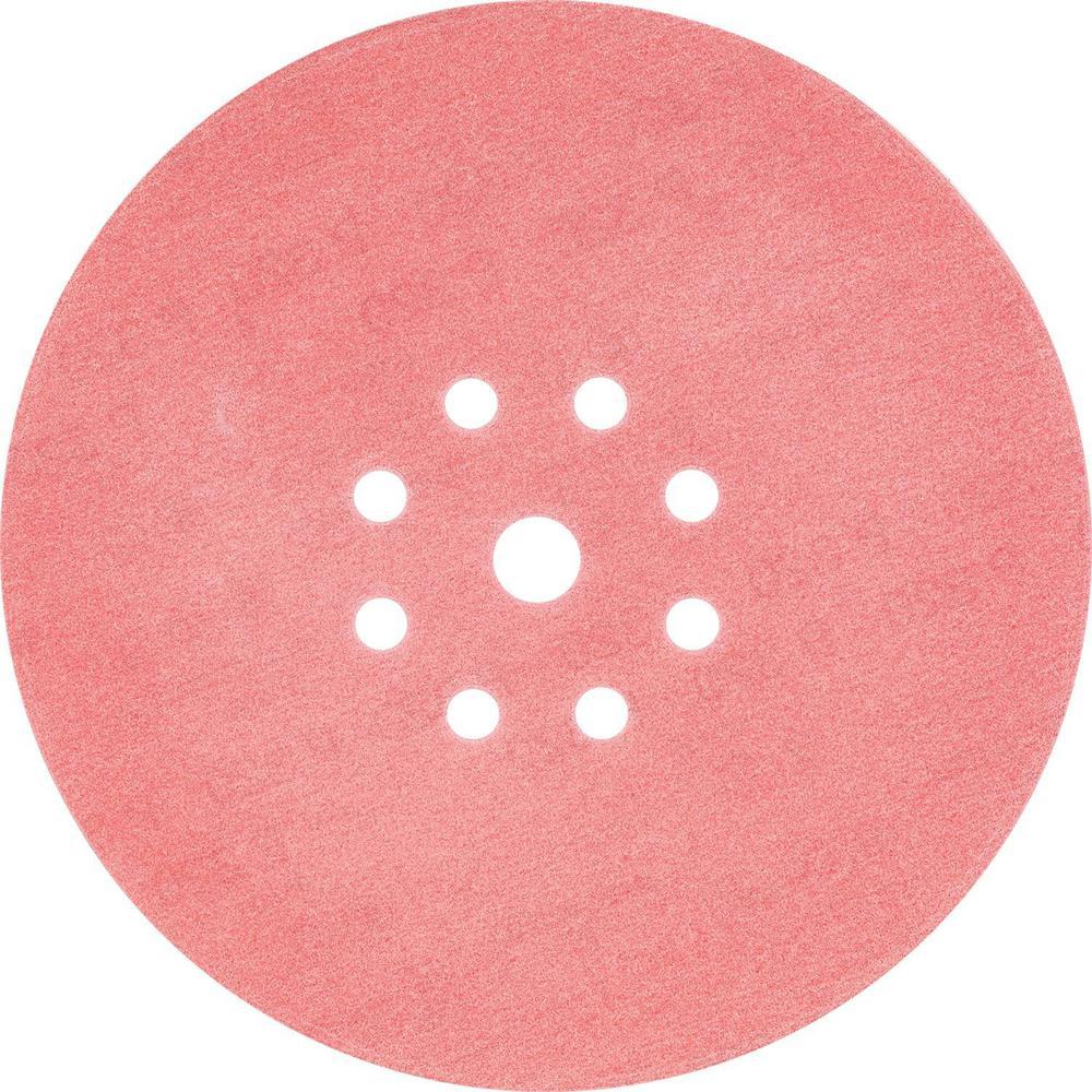 9 in. Round Abrasive Disc, Hook & Loop, 320-Grit (25-Pack)