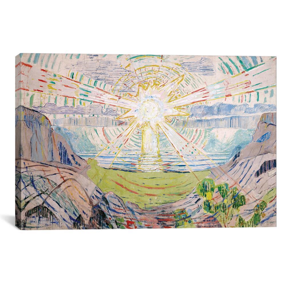 """The Sun, 1916 #2"" by Edvard Munch Canvas Wall Art"