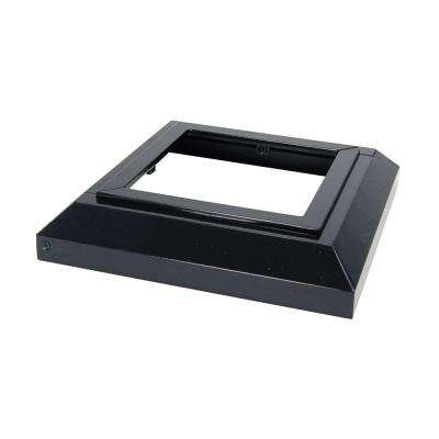 5 in. x 5 in. Gloss Black Aluminum Deck Post Base Cover