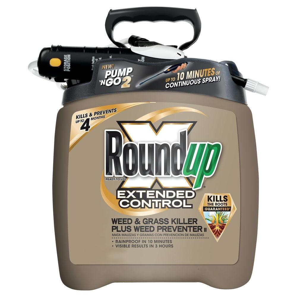 Roundup 1.33 gal. Ready-to-Use Pump 'N Go Extended Control Weed and Grass Killer Plus Weed Preventer (Case of 4)