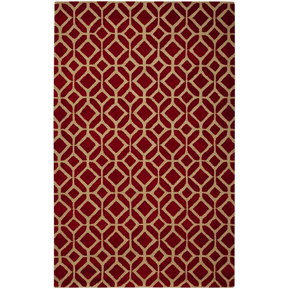 Home Decorators Collection Taza Red 8 ft. x 11 ft. Area Rug