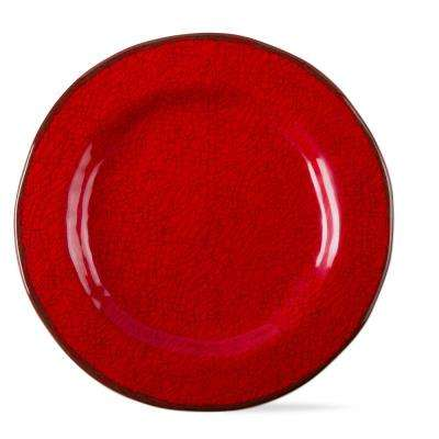 Veranda Red Melamine Salad Plate (Set of 4)