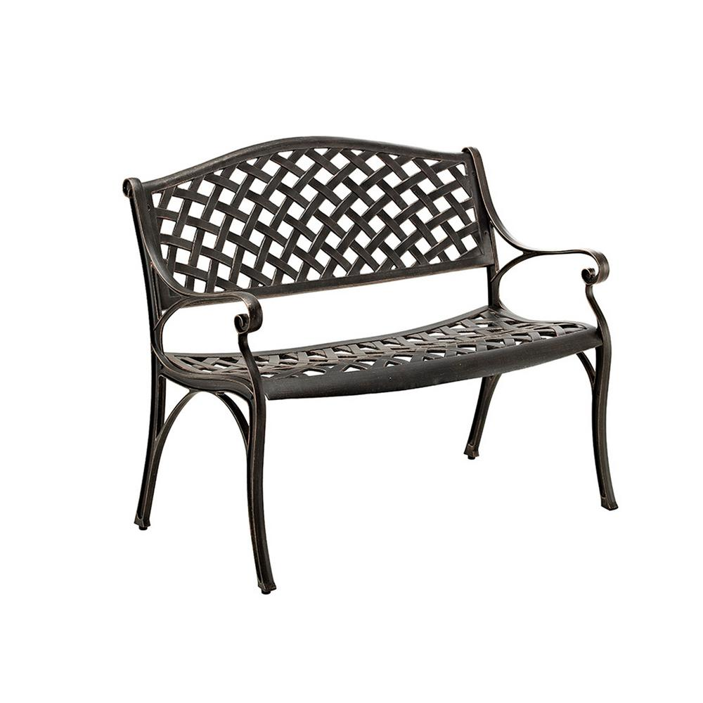 Super Walker Edison Furniture Company 42 In Cast Aluminum Wicker Style Bench In Antique Bronze Ncnpc Chair Design For Home Ncnpcorg