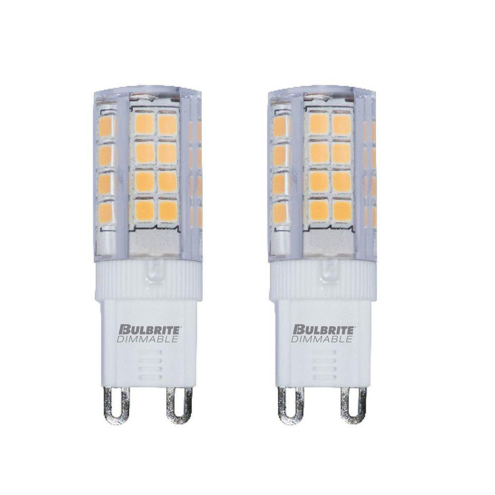 Bulbrite 30-Watt Equivalent T4 Non-Dimmable Bi-Pin (G9) LED Light Bulb Warm White (2-Pack)