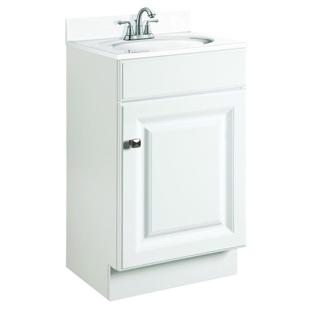 Design House Wyndham 18 In W X 16 In D Unassembled Vanity Cabinet Only In White Semi Gloss