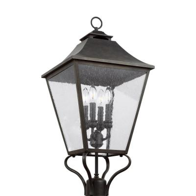 Galena 4-Light Outdoor Sable Post Light