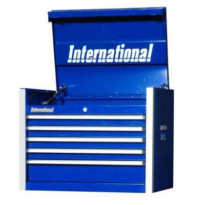 Pro Series 27 in. 5-Drawer Top Chest, Blue