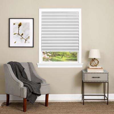 Cut-to-Size White Cordless Room Darkening Easy to Install Pleated Shades 36 in. W x 75 in. L