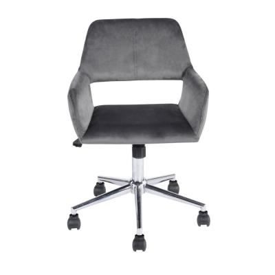 Ross Grey Velvet Home Task Chair