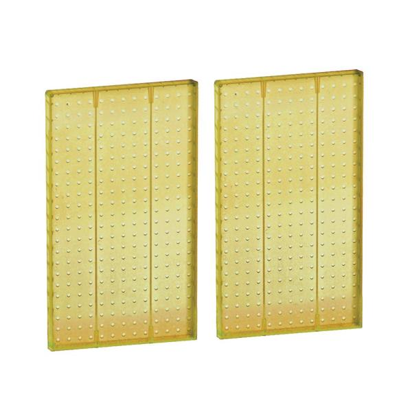 44 in H x 13.5 in W Pegboard Yellow Styrene One Sided Panel (2-Pieces per Box)