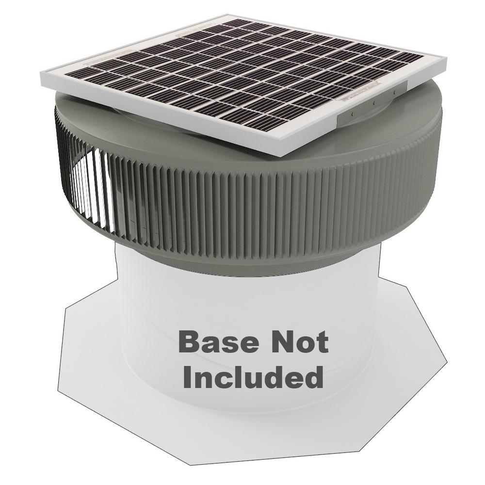 Active Ventilation 1007 CFM Weatherwood Powder Coated 15-Watt Solar Powered 14 in. Dia Retrofit Attic Roof Fan