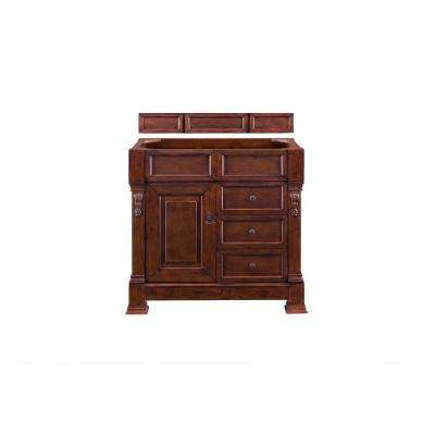 Brookfield 36 in. W Bathroom Single Vanity Cabinet with Drawers in Warm Cherry