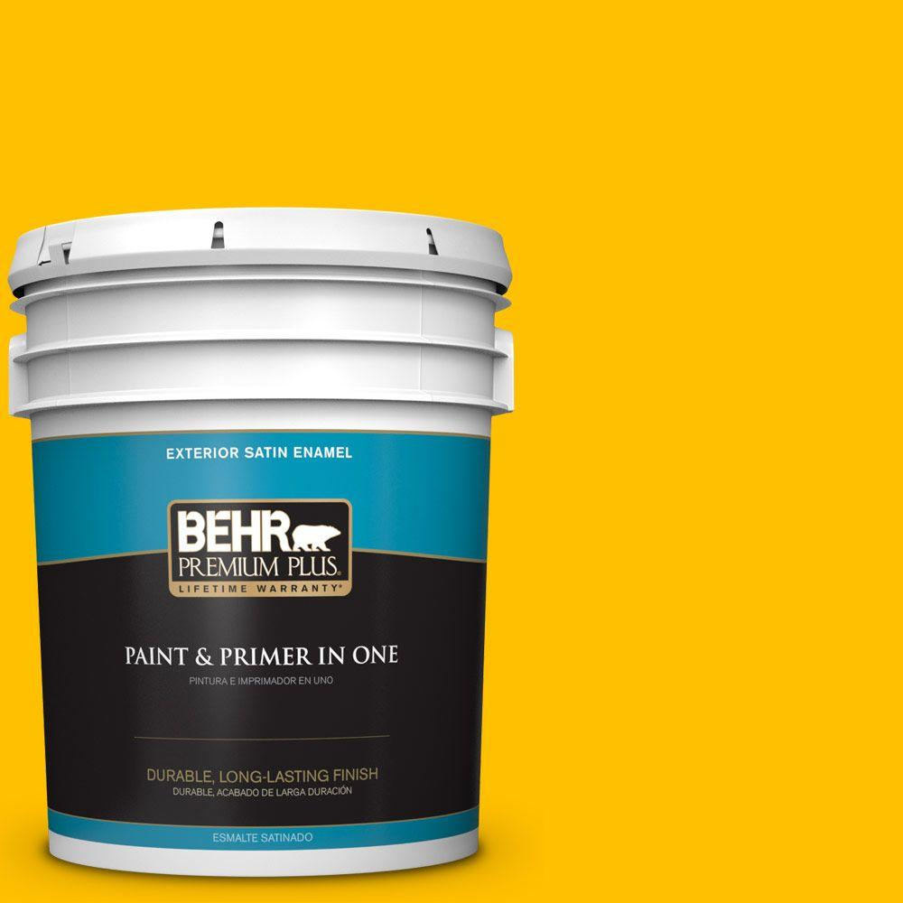 5-gal. #360B-7 Center Stage Satin Enamel Exterior Paint
