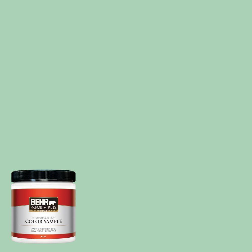 BEHR Premium Plus 8 oz. #460D-4 Aloe Essence Interior/Exterior Paint Sample