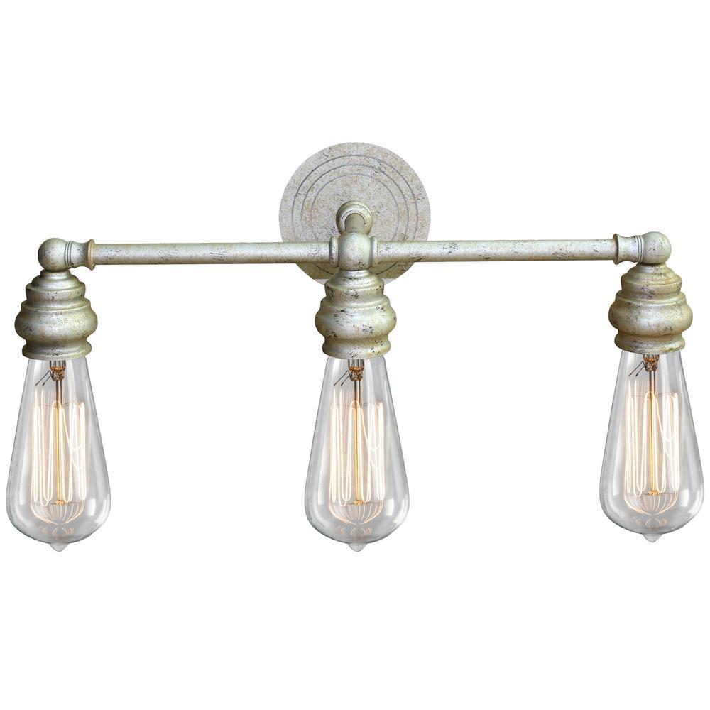 Tiffany 3-Light Golden Bath Light