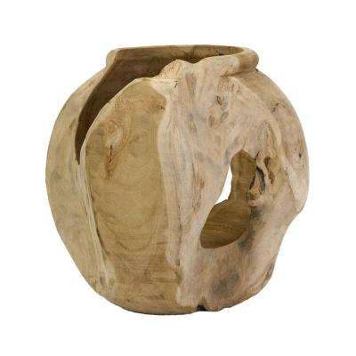Macaque Teakwood 11.25 in. H Vase