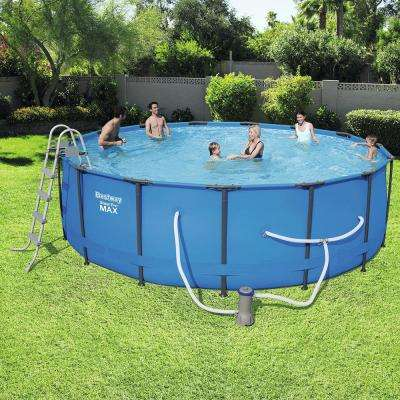 Steel Pro 15 ft. Round x 48 in. Deep Above Ground Pool Package
