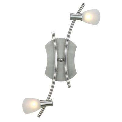 Ona 2-Light Matte Nickel Transitional Track Lighting Fixture