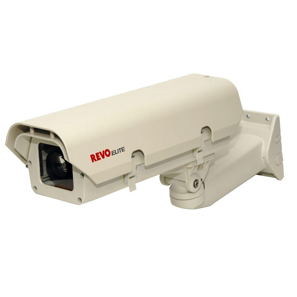 Revo Elite Commerical Grade Indoor/Outdoor Box Camera and Enclosure with 600 TVL and 5-50 mm Lens