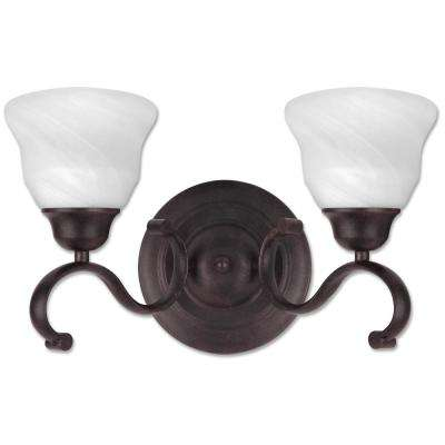 Oregon 2-Light Antique Black Bath Light