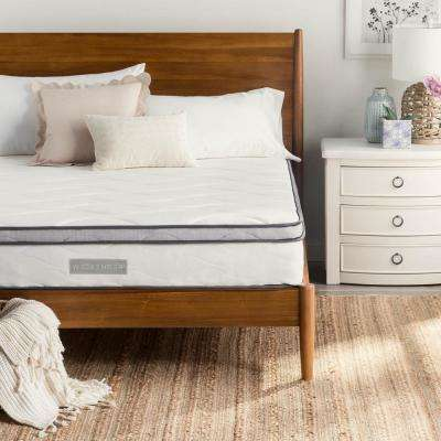 white bedroom furniture. Brilliant Furniture 10 In Queen Hybrid Mattress On White Bedroom Furniture