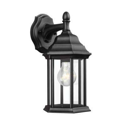 Sevier 1-Light Black Outdoor Wall Mount Lantern