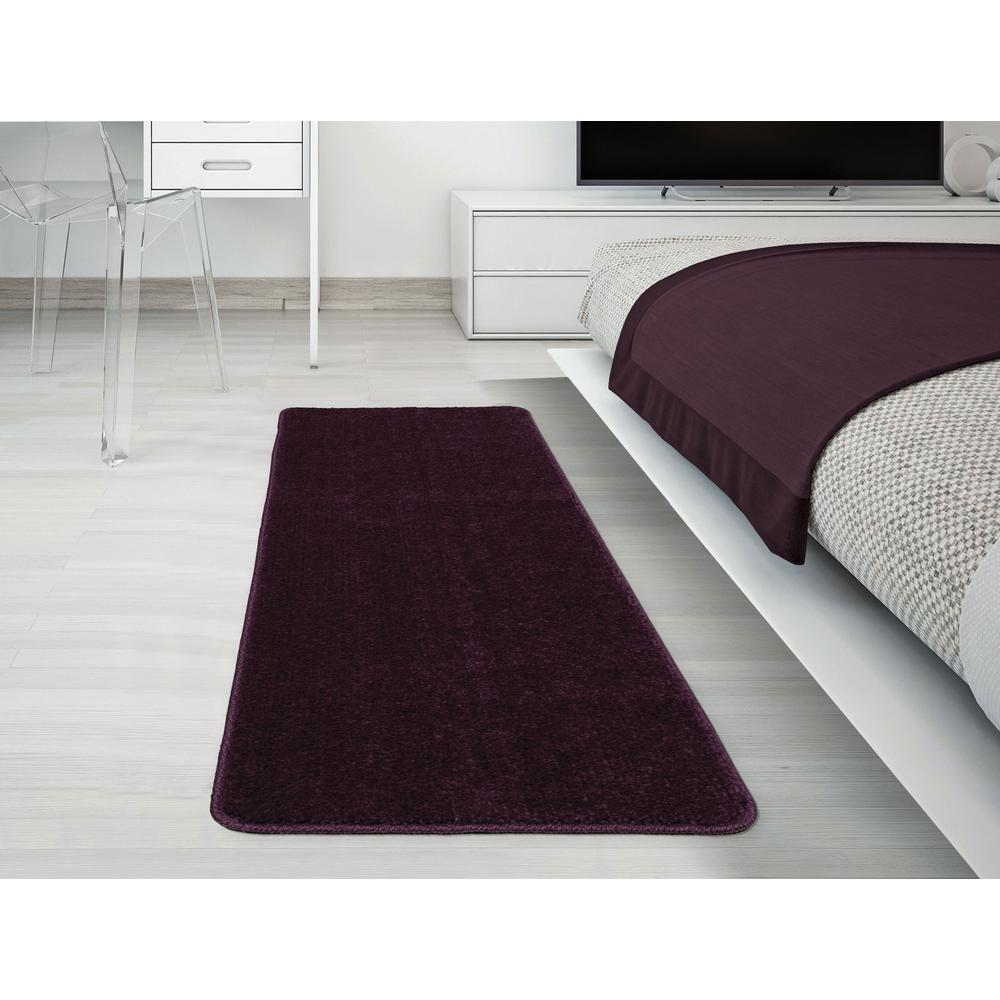 Solid Design Purple 1 ft. 8 in. x 4 ft. 11