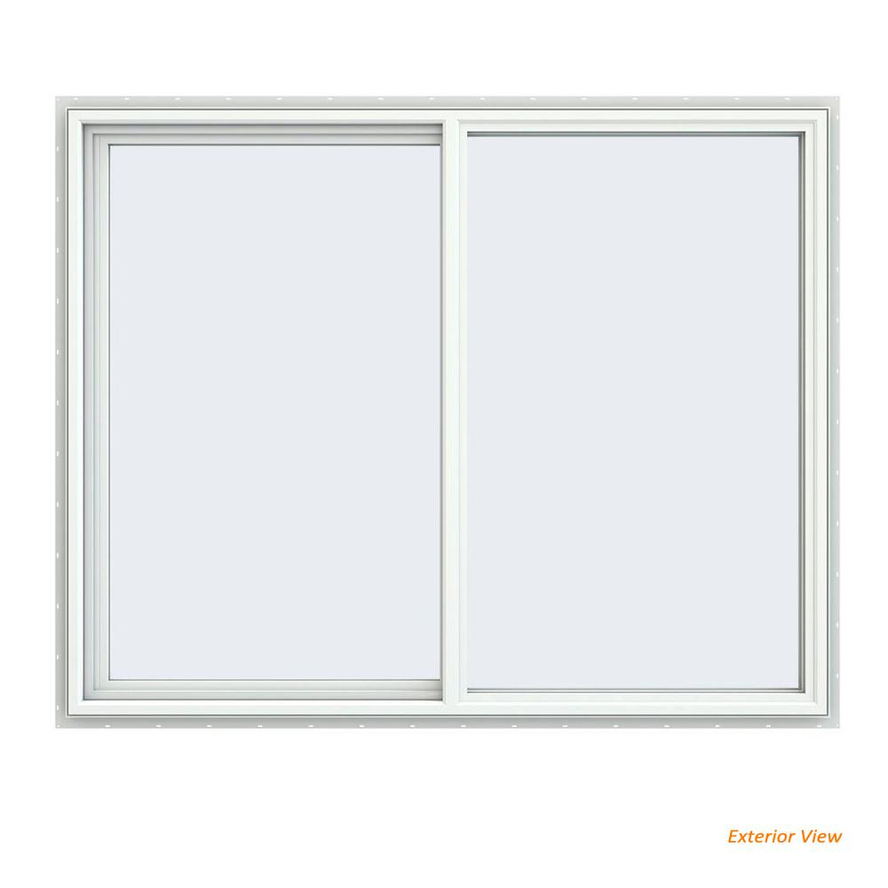 home depot sliding windows tafco jeldwen 595 in 475 v4500 series white vinyl lefthanded