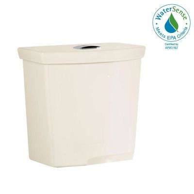 H2Option 0.92/1.28 GPF Dual Flush Toilet Tank Only with Liner in Linen