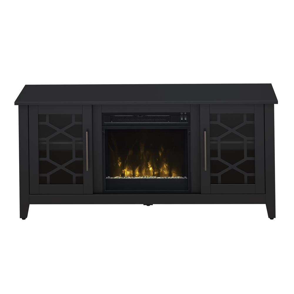 Clarion 54 in. Media Console Electric Fireplace in Black