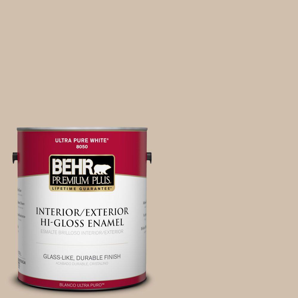 1-gal. #700C-3 Pecan Sandie Hi-Gloss Enamel Interior/Exterior Paint