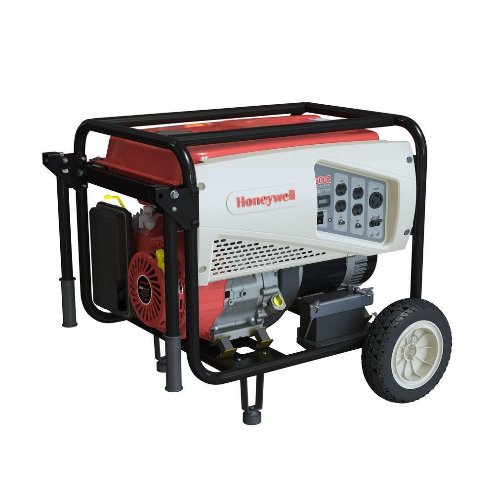 Honeywell 7,500-Watt Gas Powered Electric Start Portable Generator