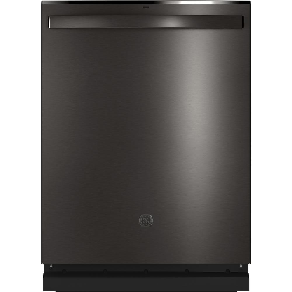 GE Top Control Tall Tub Dishwasher in Black Stainless Steel with Stainless Steel Tub and Steam Prewash, 46 dBA
