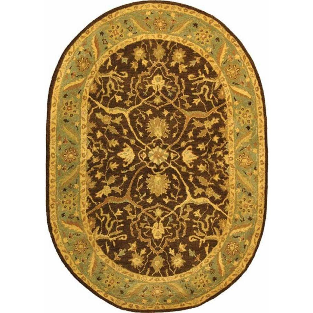 Safavieh Antiquity Brown Green 8 Ft X 10 Ft Oval Area