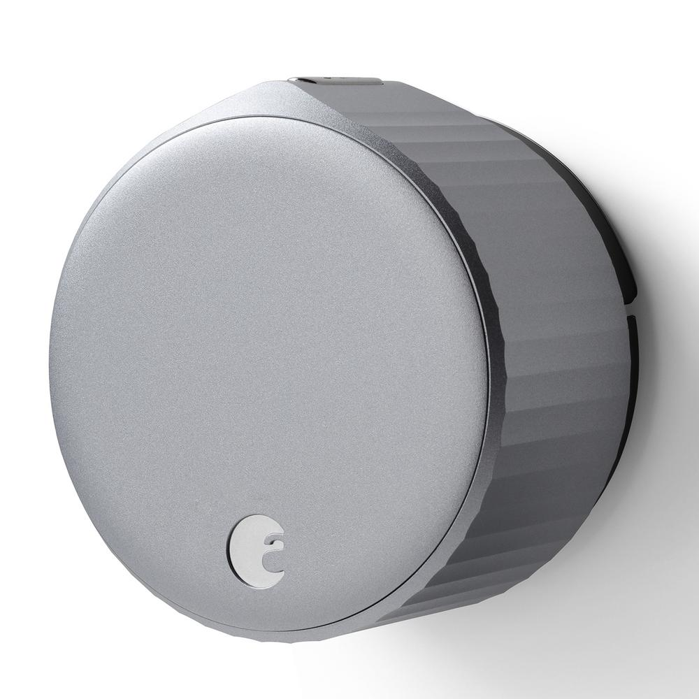August Wi-Fi Smart Lock Silver Single Cylinder Deadbolt Replacement
